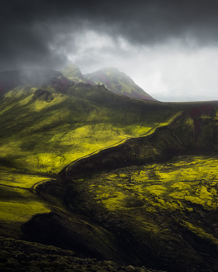 Moody weather in the Icelandic highlands