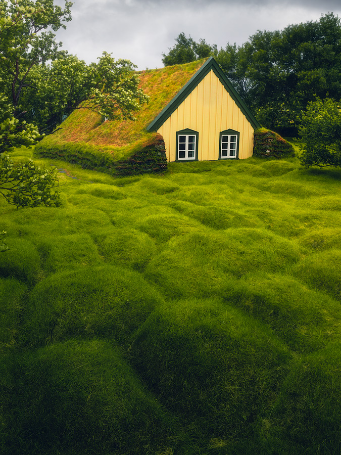 The turf church Hofskirkja on Iceland