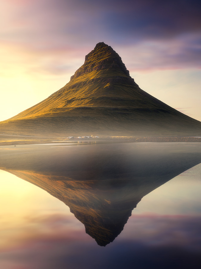Sunset at Kirkjufell on Iceland