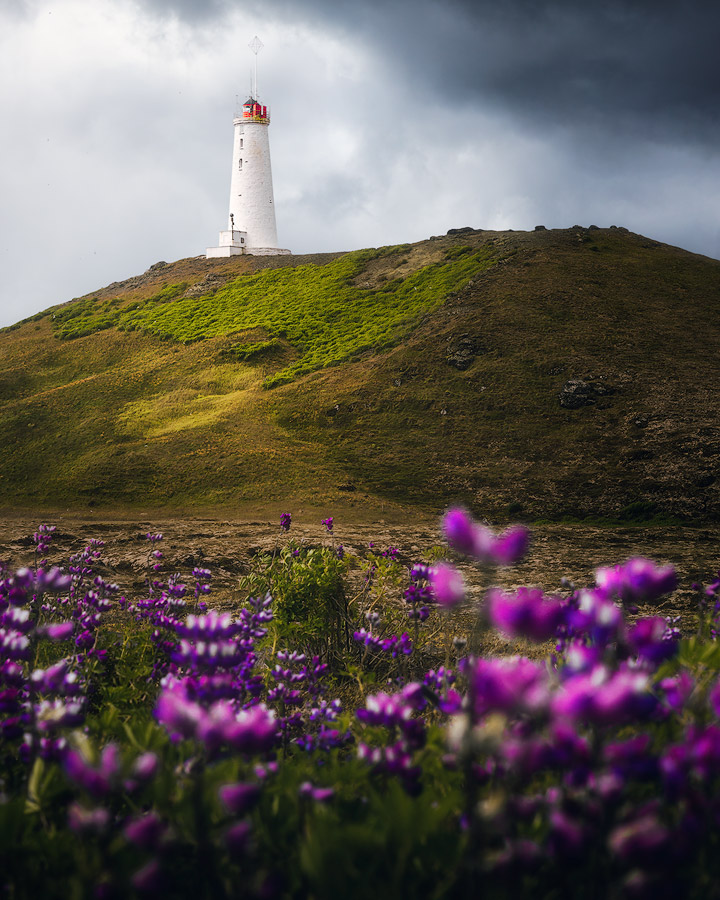 Lighthouse on Reykjanes on Iceland