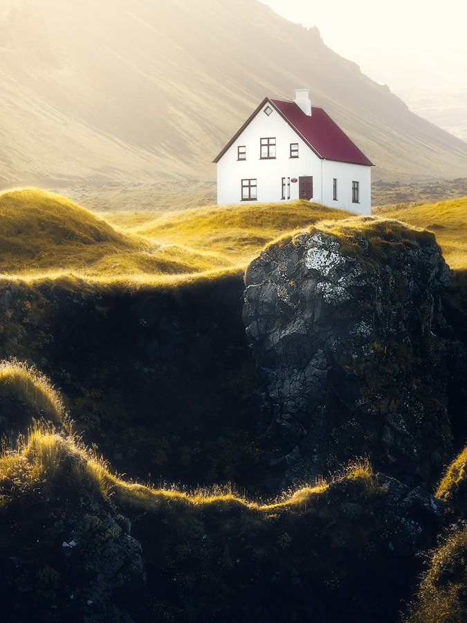 House with a view at Arnarstapi on Iceland