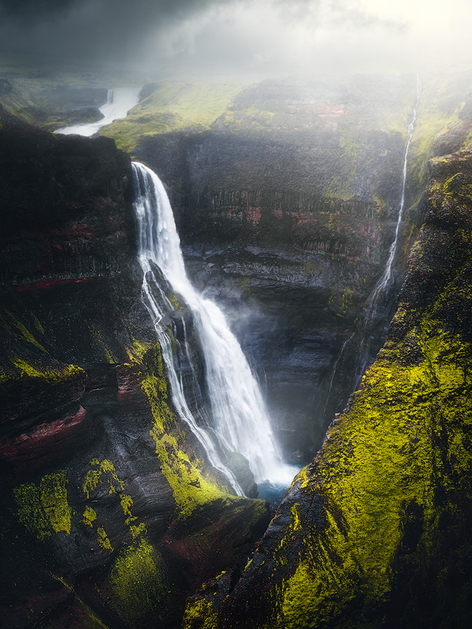 The neighbour waterfall to Haifoss, Granni on Iceland